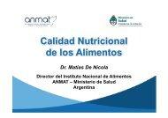 Calidad Nutricional de los Alimentos