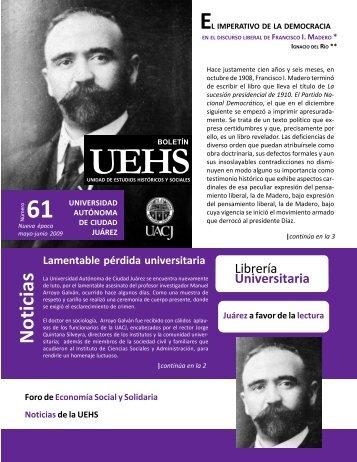 Boletin 61 (web).p65 - Universidad Autónoma de Ciudad Juárez