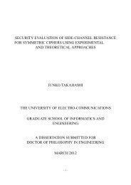security evaluation of side-channel resistance for symmetric ciphers ...
