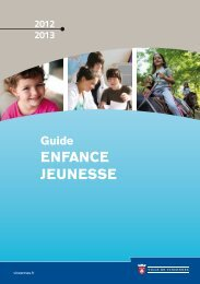 Guide Enfance - Jeunesse 2012/2013 - Ville de Vincennes