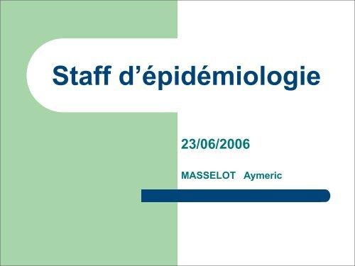 Staff d'épidémiologie