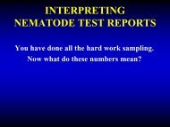 Interpreting Nematode Test Reports - Oregon State University