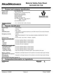 Material Safety Data Sheet - MeadWestvaco