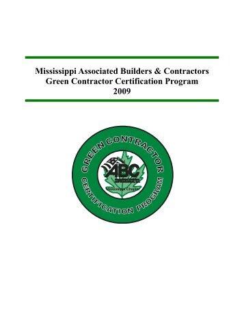 green contractor certification program.pub - Msabc.net