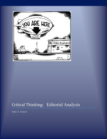 Critical Thinking: Editorial Analysis - Eddie Jackson