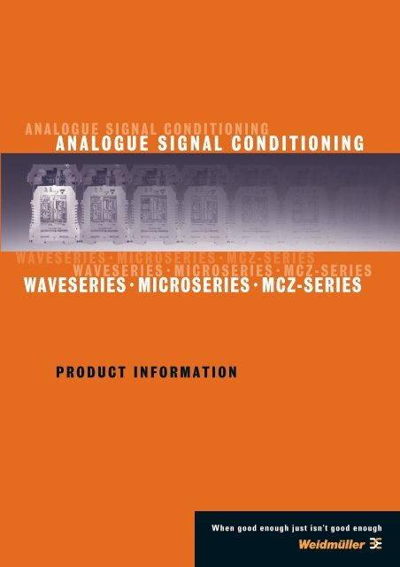 analogue signal conditioning waveseries·microseries·mcz-series