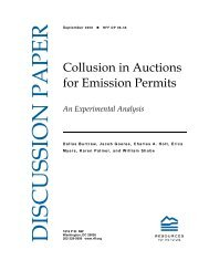 Collusion in Auctions for Emission Permits: An Experimental ... - Mistra