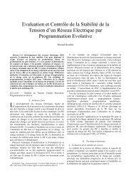 III-3 Evaluation de la Stabilité Statique d'un Réseau Electrique par ...