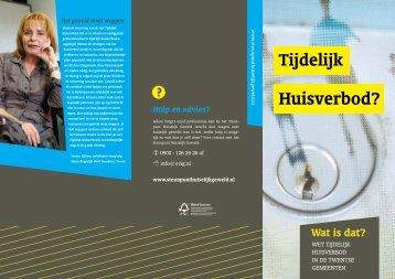 Folder tijdelijk huisverbod - Gemeente Hengelo