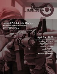Tactical Pistol & Rifle Operator Tactical Pistol & Rifle Operator April 2 ...