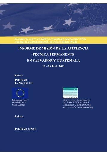 Misión Centro América - Viceministerio de Coca y Desarrollo Integral