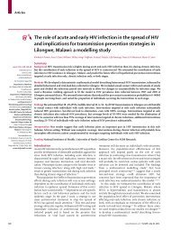 The Role of Acute HIV Infection, Malawi - Powers, 2011