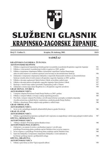 Službeni glasnik br. 13/2003.
