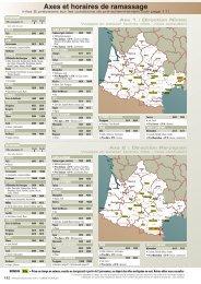 Axes et horaires de ramassage - Verdié Voyages