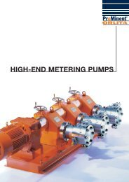Low-pressure dosing pumps up to 1000 l/h - ProMinent