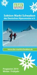 Winter 2013/2014 - DAV Markt Schwaben