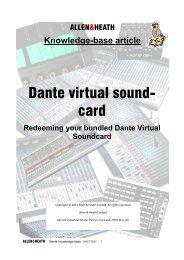 Dante virtual sound card windows xp