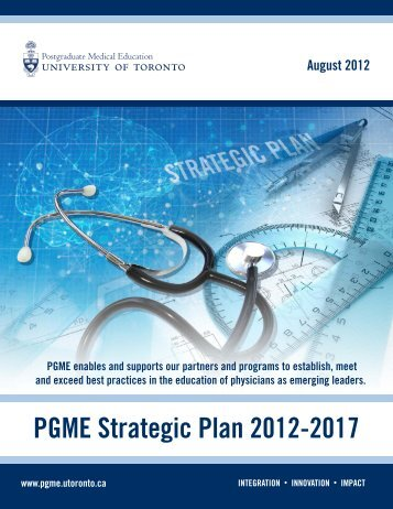 PGME Strategic Plan 2012-2017 - Post Graduate Medical Education ...