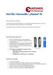 PAG Öl - Rösner KFZ Werkzeuge