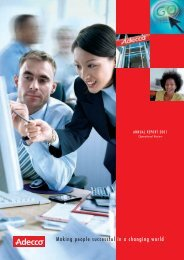 Making people successful in a changing world - Annual Report 2012