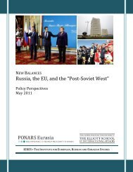 "Russia, the EU, and the ""Post-Soviet West"" - PONARS Eurasia"