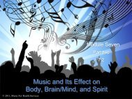Music and Its Effect on Body, Brain/Mind, and Spirit - Music for ...