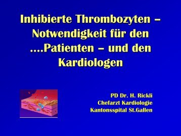 Inhibierte Thrombozyten - HICC