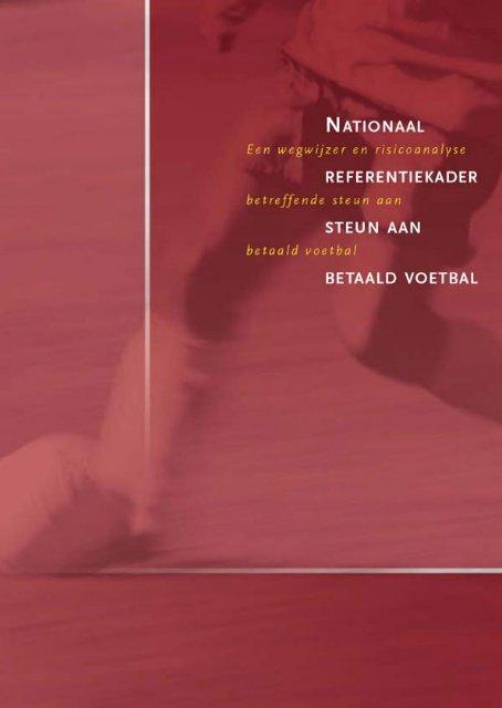 Nationaal referentiekader Steun aan betaald voetbal - Europa ...