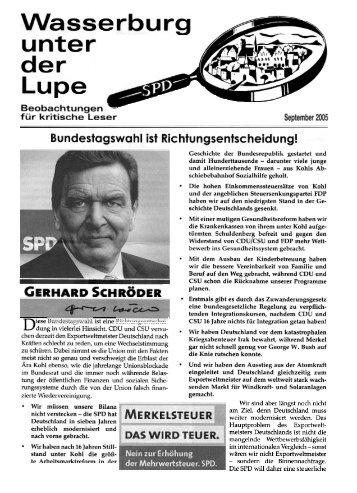Lupe, September 2005, Richtungsentscheidung - SPD-Wasserburg