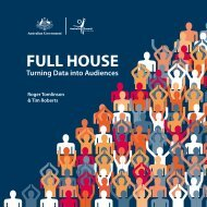 FULL HOUSE Turning Data into Audiences - ARTS Australia