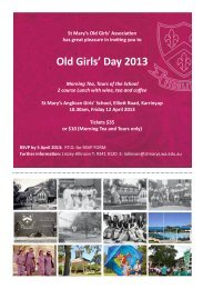Old Girls' Day 2013 - St Mary's Anglican Girls' School