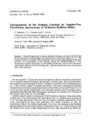 Determination of the Rydberg Constant by Doppler-Free Two ...
