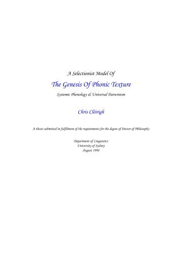 Title Page, Abstract, Acknowledgements - International Systemic ...