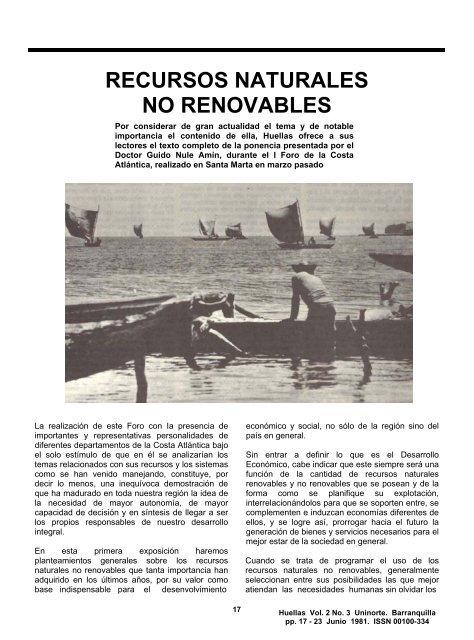 RECURSOS NATURALES NO RENOVABLES - Universidad del Norte