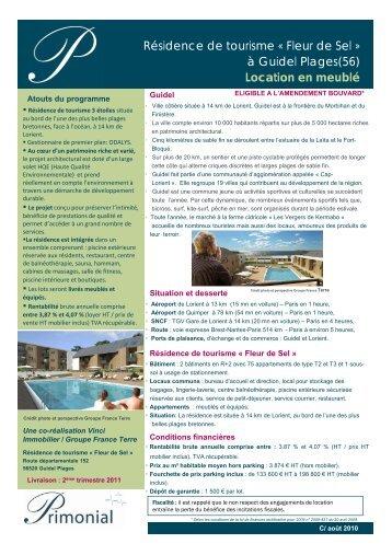Résidence de tourisme « Fleur de Sel - Primonial Immobilier