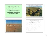 Recognized causes of Land Degradation in China