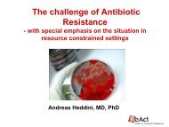 The challenge of Antibiotic Resistance - ReAct