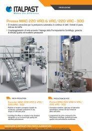 Pressa MAC 220 VRO & VRC/220 VRC - 300 - Italpast