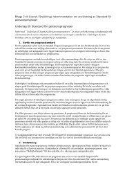 Underlag till Standard för pensionsprognoser - Svensk Försäkring
