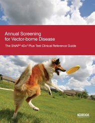 SNAP 4Dx Plus Clinical Reference Guide - IDEXX Laboratories