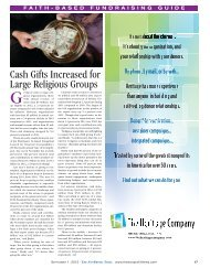 Faith-Based Fundraising Guide 2013 - The NonProfit Times