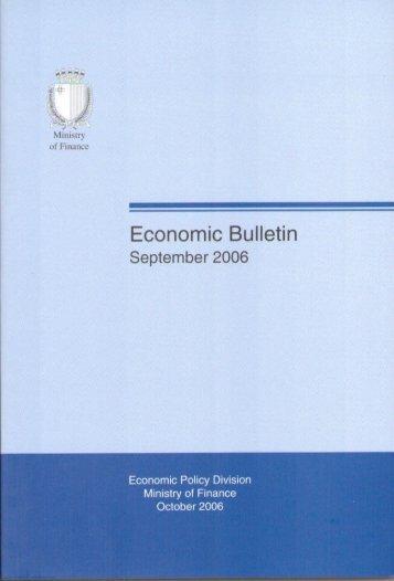 Economic Bulletin September 2006 - Ministry for Finance
