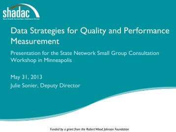 Data Strategies for Quality and Performance Measurement