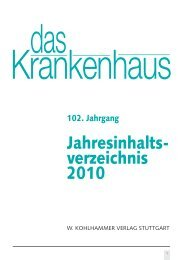 Jahresinhalts- verzeichnis 2010