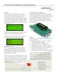 FireFox Broadband Synthesizer – OEM Model - Jackson Labs ... - Page 2