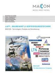 luft-, raumfahrt & verteidigungstechnik - MACCON GmbH