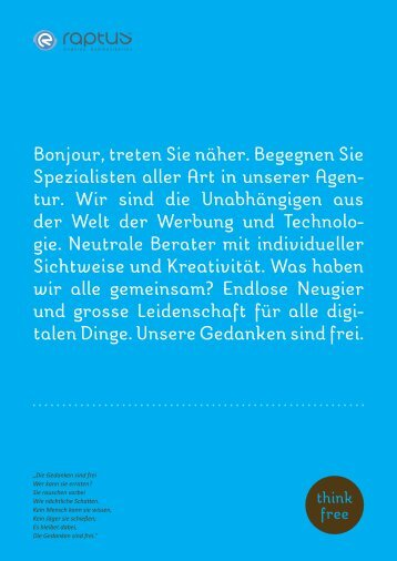 Kurzvorstellung und Portfolio - Raptus AG