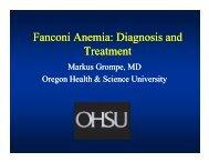 Fanconi Anemia: Diagnosis and Treatment