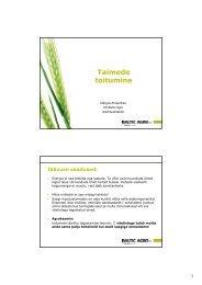 Taimede toitumine - Põllumajandusuuringute Keskus