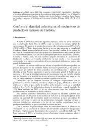 Conflicto e identidad colectiva en el movimiento de productores ...